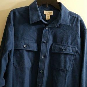 L.L Bean chamois cloth shirt size large reg.